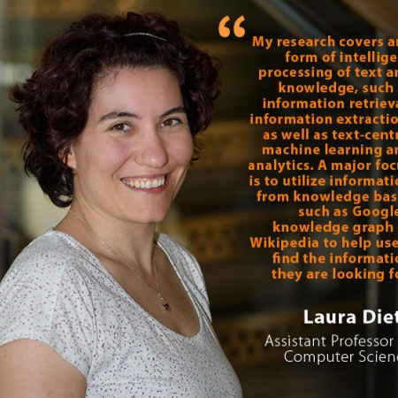 Laura Dietz, UNH Assistant Professor of Computer Science, and quote