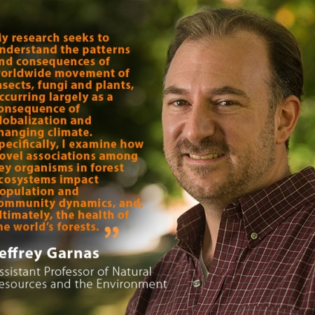 Jeffrey Garnas, UNH Assistant Professor of Natural Resources and the Environment, and quote