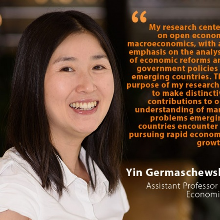 Yin Germaschewski, UNH Assistant Professor of Economics, and quote