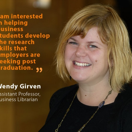 Wendy Girven, UNH Assistant Professor, Business Librarian, and quote