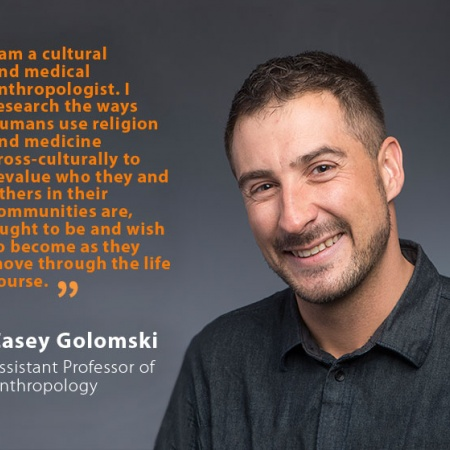 Casey Golomski, UNH Assistant Professor of Anthropology, and quote