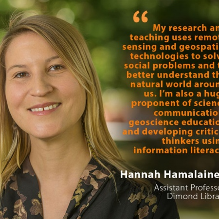 Hannah Hamalainen, UNH Assistant Professor, Dimond Library, and quote