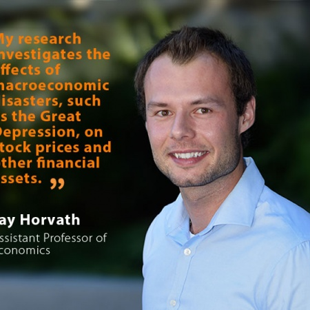 Jay (Jaroslav) Horvath, UNH Assistant Professor of Economics, and quote