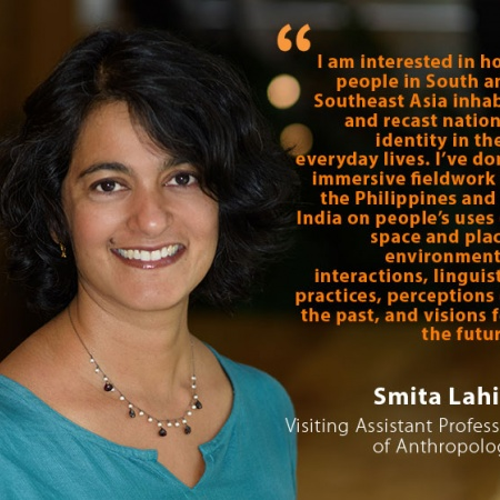 Smita Lahiri, UNH Visiting Assistant Professor of Anthropology, and quote