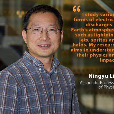 Ningyu Liu, UNH Associate Professor  of Physics, and quote
