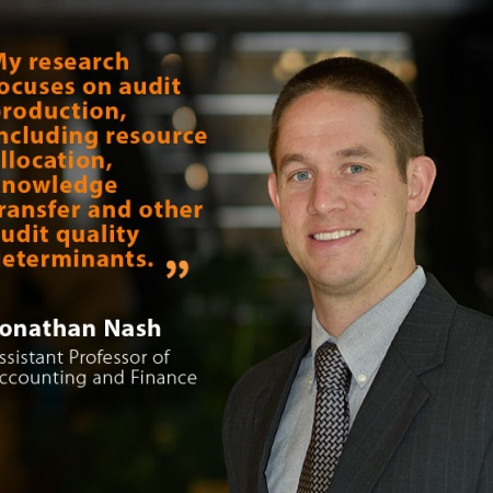Jonathan Nash, UNH Assistant Professor of Accounting and Finance, and quote