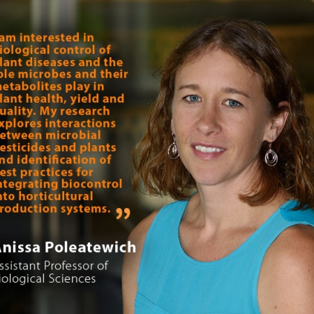 Anissa Poleatewich, UNH Assistant Professor of Biological Sciences, and quote
