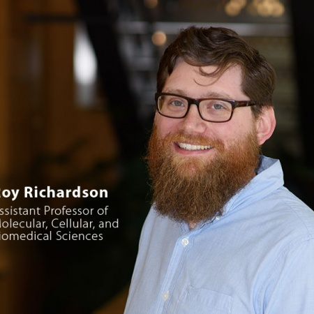 Roy Richardson, UNH Assistant Professor of Molecular, Cellular, and Biomedical Sciences, and quote
