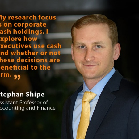 Stephan Shipe, UNH Assistant Professor of Accounting and Finance, and quote