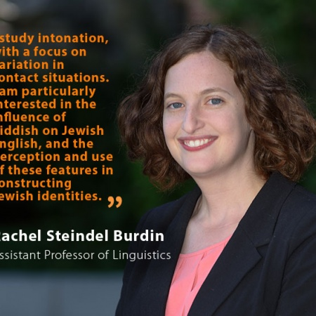 Rachel Steindel Burdin, UNH Assistant Professor of Linguistics, and quote