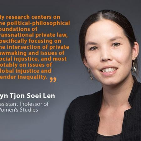 Lyn Tjon Soei Len, UNH Assistant Professor of Women's Studies, and quote