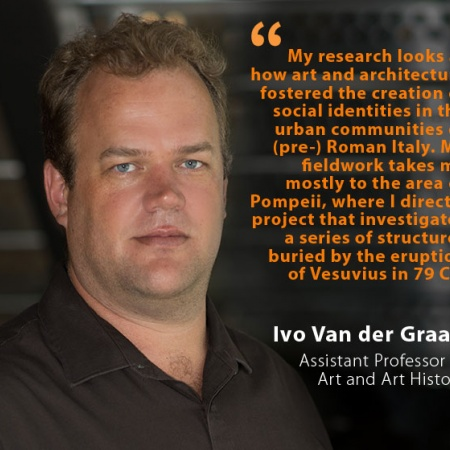 Ivo Van der Graaff, UNH Assistant Professor of Art and Art History, and quote
