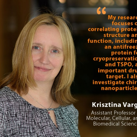Krisztina Varga, UNH Assistant Professor of Molecular, Cellular, and Biomedical Sciences, and quote
