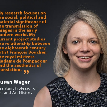 Susan Wager, UNH Assistant Professor of Art and Art History, and quote