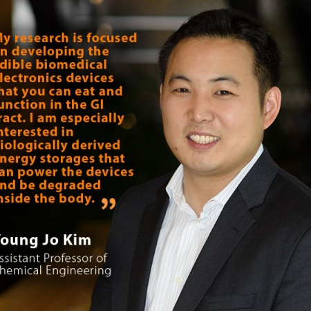 Young Jo Kim, UNH Assistant Professor of Chemical Engineering, and quote