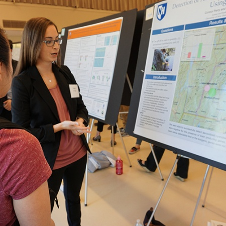 Megan LaForge '18 at the UNH Undergraduate Research Conference