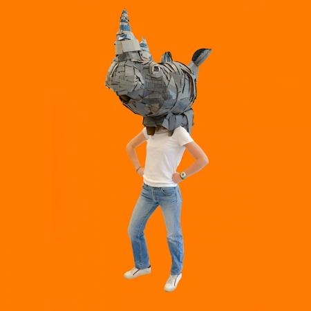 rhino head mask