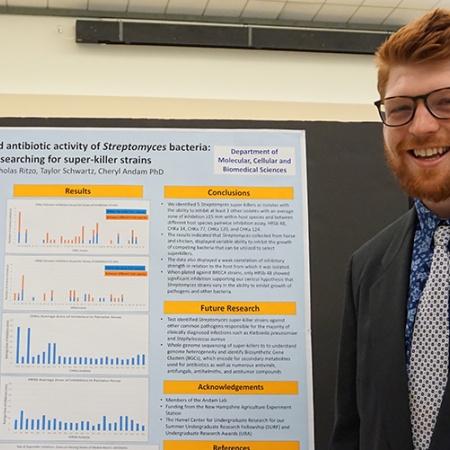Nicolas Ritzo '18 at the UNH Undergraduate Research Conference