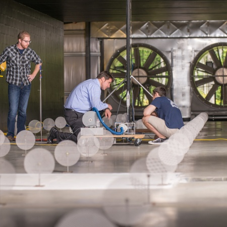 UNH flow physics facility wind tunnel