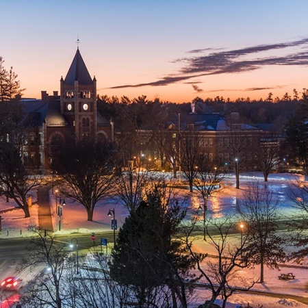 UNH campus in winter