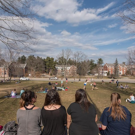 Thompson Hall lawn at UNH