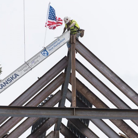 Topping off ceremony at UNH's Hamilton Smith Hall
