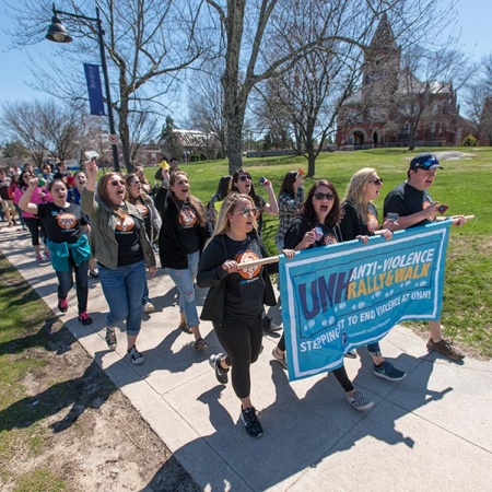 Anti-Violence Walk at UNH