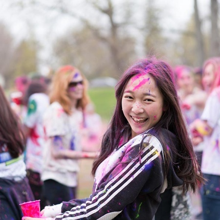 Holi celebration at UNH