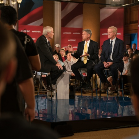"A live airing of MSNBC's ""Hardball with Chris Matthews"" from University of New Hampshire"