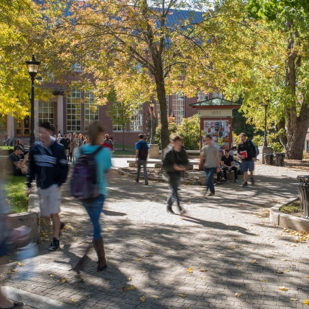 Students in Murkland Courtyard