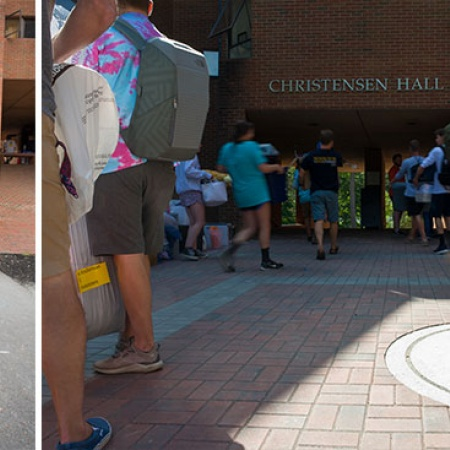 UNH students moving into their dorms on Move-In Day