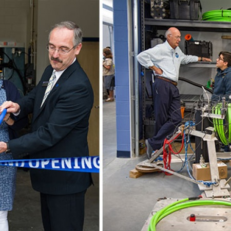 grand opening of the Jere A. Chase Ocean Engineering Laboratory's expansion