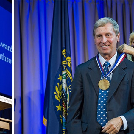 Peter T. Paul and the Honorable John Lynch at UNH's Evening of Distinction