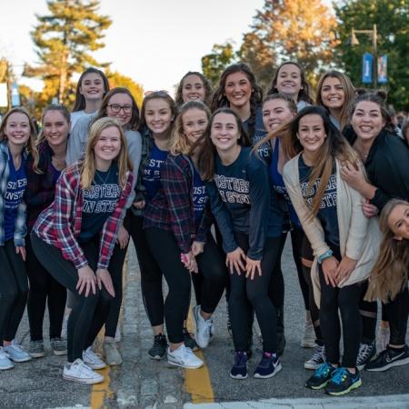 Students at UNH's homecoming