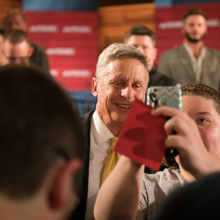Libertarian presidential candidate Gary Johnson at UNH