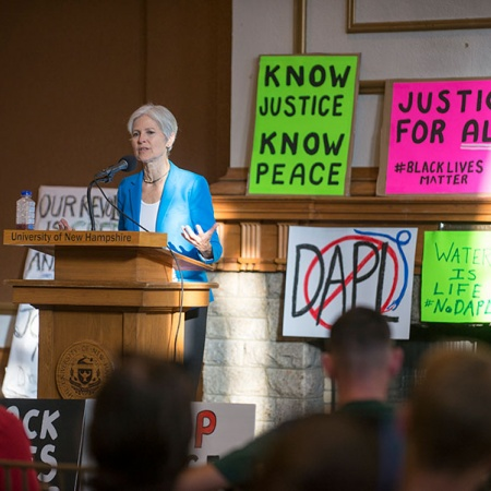 Jill Stein speaks at UNH