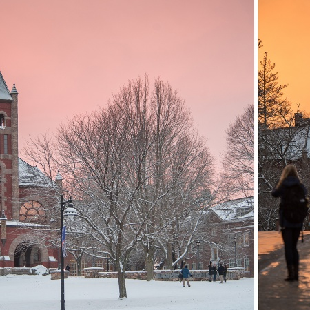 sunset at UNH