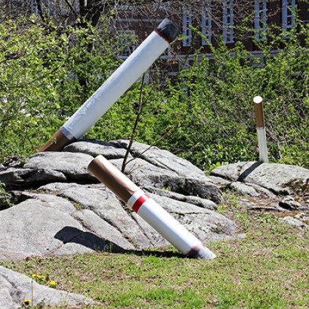 a sculpture of cigarettes called This Is My Ashtray by UNH student Laurel Sargent '17