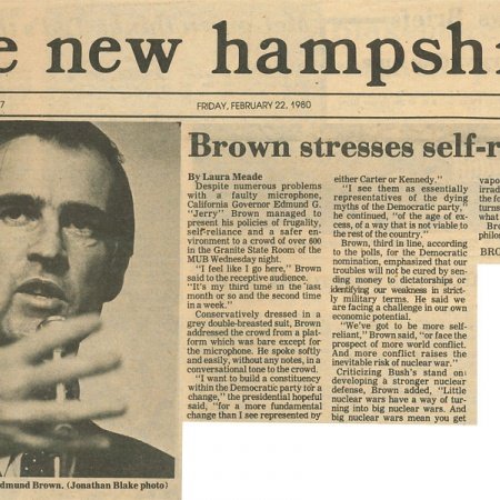 Brown stresses self-reliance - TNH article