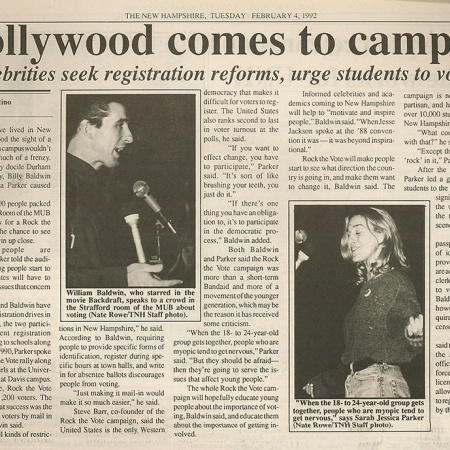 Hollywood comes to campus - TNH article