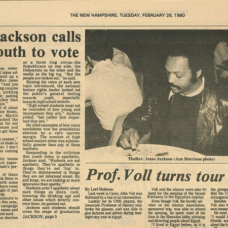 Rev. Jackson calls for youth to vote - TNH article