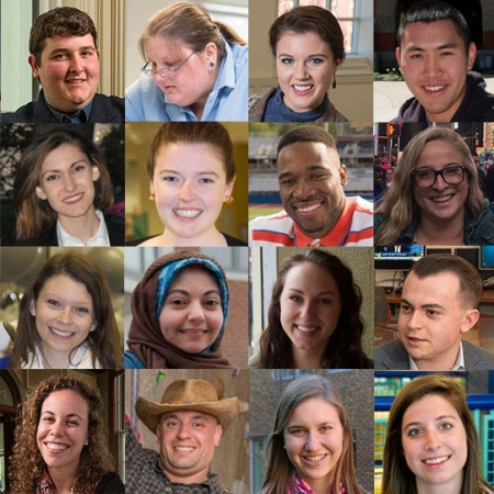 photo grid of UNH students from the class of 2016