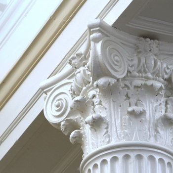 architectural detail of college building
