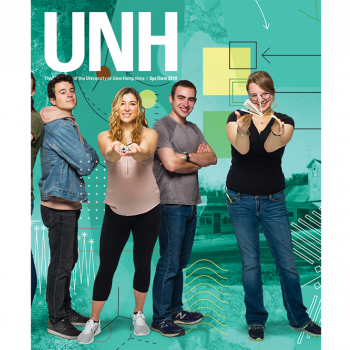 UNH Magazine Spring/Summer 2019 Cover - UNH students who participated in the URC