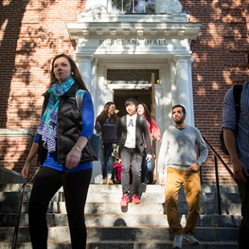 Students from the UNH College of Liberal Arts on campus in Durham, NH