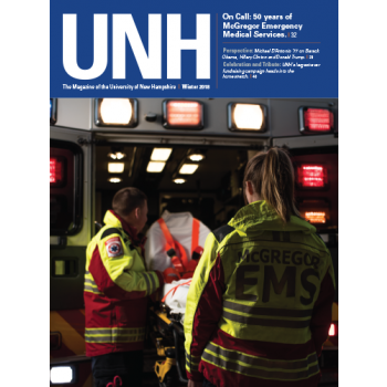 UNH Magazine Winter 2018 cover