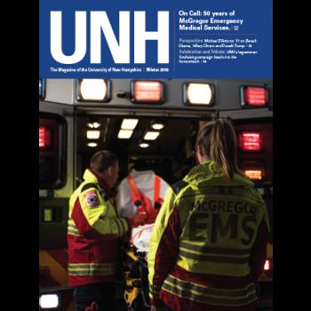 UNH Magazine Winter 2018 cover