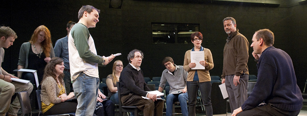David Kaye directs the cast of 8