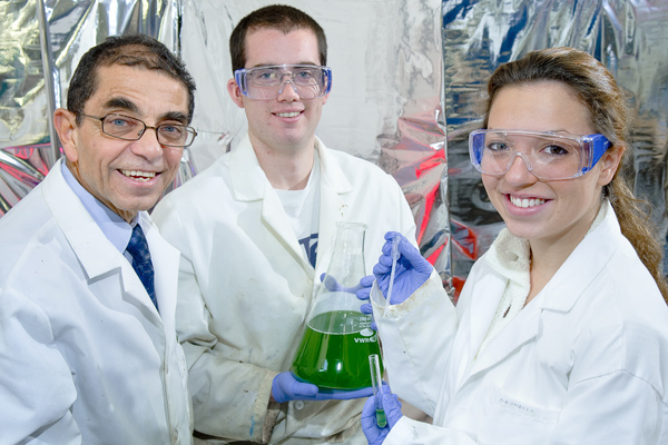 Professor Ihab Farag, Brian McConnell '13, and Gina Chaput '13