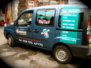The CAN-CAN van, offering valuable employment training for people with learning disabilities.